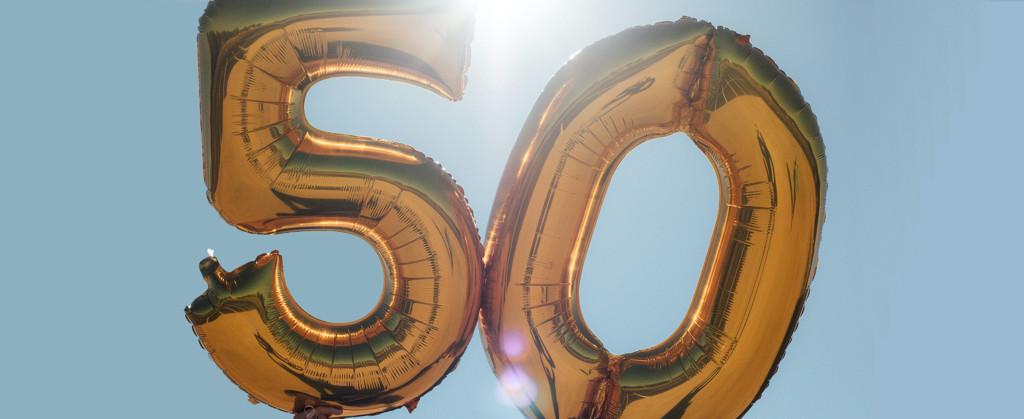 Ballonger med nummer 50